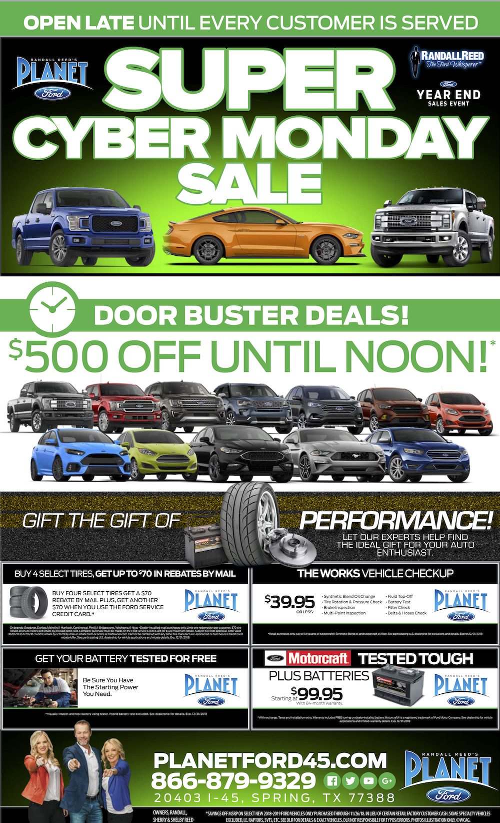 Planet Ford Humble Tx >> Super Charged Cyber Monday Deals At Planet Ford Humbleplanet